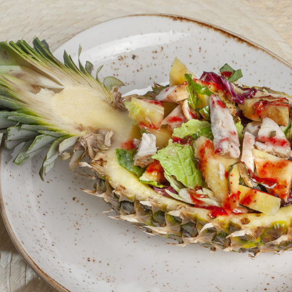 Salad in pineapple