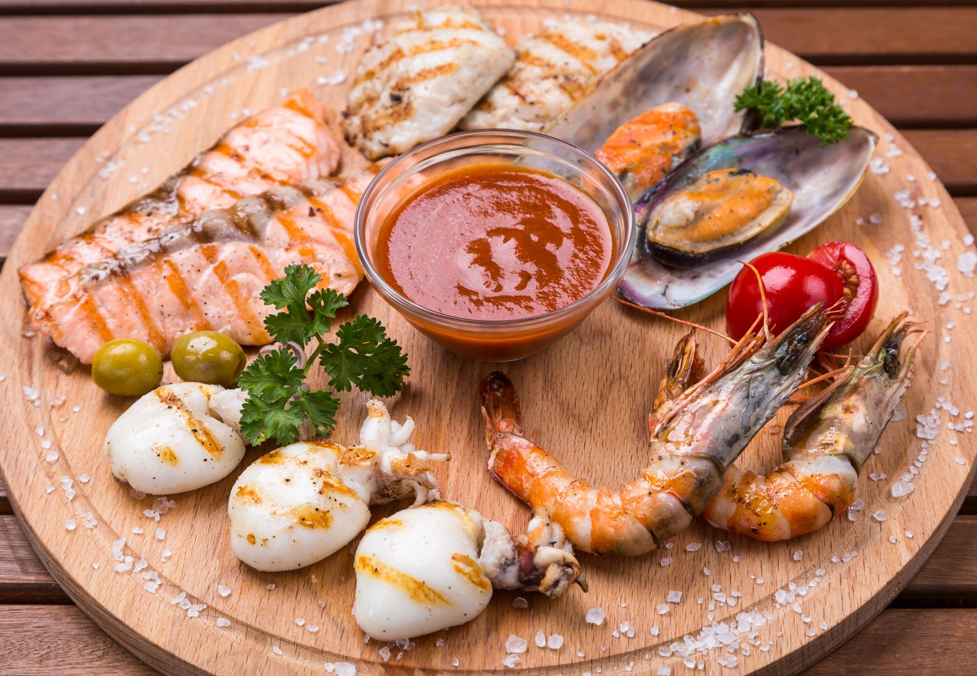 Mix of seafood
