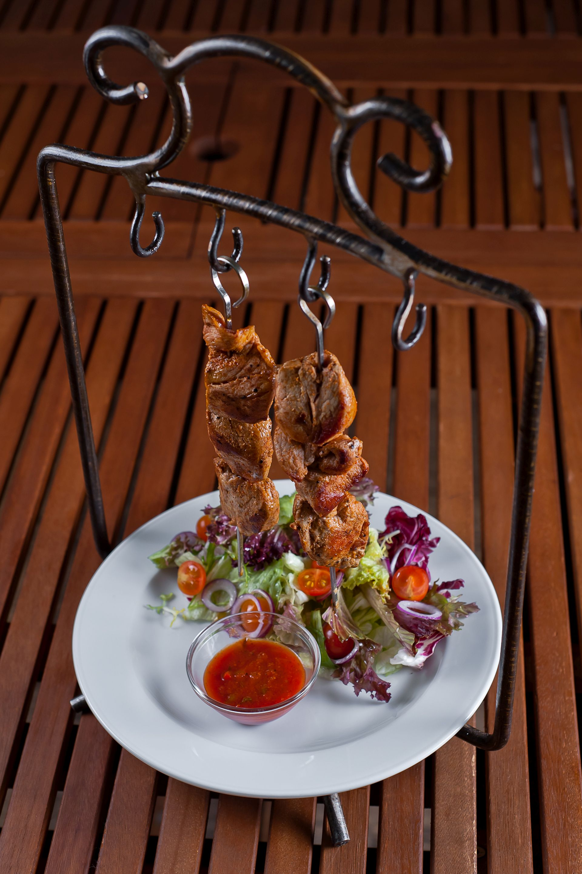 Skewers with chicken / Skewers with pork